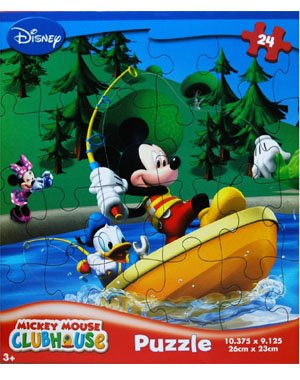 Cheap Fun Disney Mickey Mouse Clubhouse 24-Piece Jigsaw Puzzle (Mickey and Donald Fishing) (B00394XDCQ)