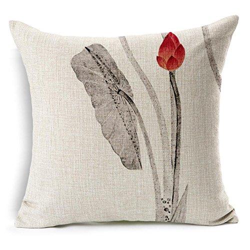 Cinese dell'inchiostro stile loto modello divano decorativo cuscino, cuscino, cuscini da letto , h