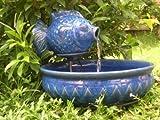 Smart Solar/Smart Solar 23470R01 Solar Powered Ceramic Fish Fountain. Blue glazed.