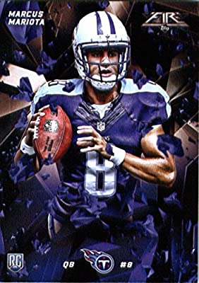2015 Topps Fire Rookie #10 Marcus Mariota Tennessee Titans Football Rookie Card