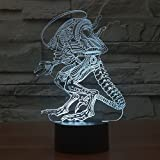 CHEAN LED Touch 7 Color Change Bloodcurdling Alien Lamp Night Light