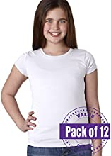 Next Level Girls The Princess Tee 3710-White-X-Small 12 Pack