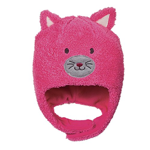 Kids Peruvian Plush Animal Costume Hat, Fleece Cap in Toddler Sizes, Cat or Bear