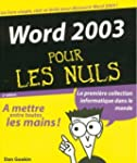 Word 2003 Pour Les Nuls