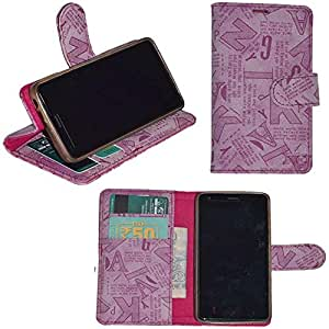 R&A Pu Leather Wallet Flip Case Cover With Card & ID Slots & Magnetic Closure For Samsung Galaxy Grand 2