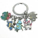 Mega-XY-evolutiva-Modelos-Pokemon-mueca-5-Color-Colgante-de-metal-llavero