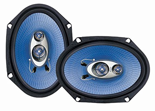 Pyle PL683BL 6 x 8-Inch 360-Watt 3-Way Speakers (2004 Ford F350 Grill compare prices)