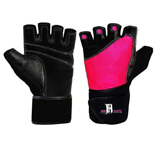 Women S Fitness Gloves With Wrist Support: Weightlifting Gloves W/ Wrist Wrap Ladies Gym Workout