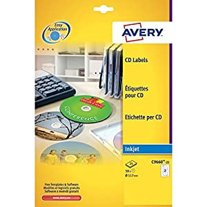 Avery Full Face CD Labels- Photo Quality Glossy