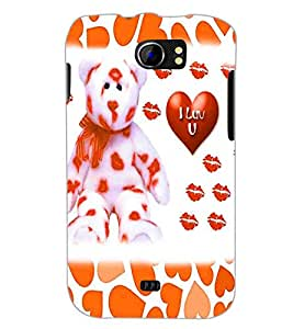 PrintDhaba Love D-1338 Back Case Cover for MICROMAX A110 CANVAS 2 (Multi-Coloured)
