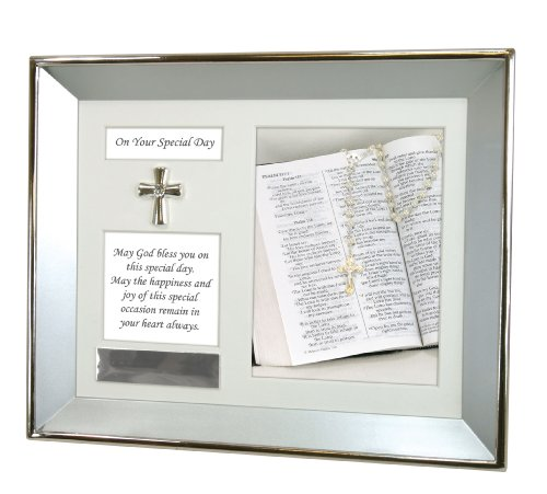 Stephan Baby Customizable Special Occasion Keepsake Silver Plated Shadow Box Wall Frame