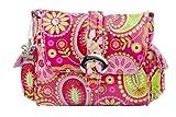 "Kalencom 11"" Coated Midi Buckle Bag, Gypsy paisley cotton candy"