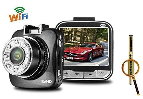 "Wifi G55W 2.0"" Screen + 1080P Resolution + 170 Degree Hd Car Dvr Dash Camera Blackbox For Android Galaxy S5,Iphone 5,5S + Blueskysea Free Gift Gel Pen (G55W Car Cam)"
