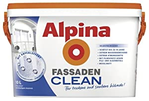 ALPINA FassadenCLEAN Außenfarbe weiß 10 L., selbstreinigend NEU  BaumarktKundenbewertung: