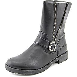 Nine West Melba Ankle Height Pull On Boot (Little Kid/Big Kid), Black, 2 M US Little Kid