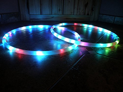 "34"" 86cm 2-piece Phoenix - LED Hula Hoop By Colorado Hula Hoops"