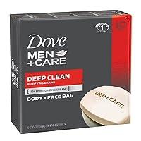 Dove Men+Care Body and Face Bar, Deep Clean 4 oz, 10 Bar