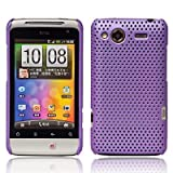Purple HTC Salsa Fiber Hybrid Hard Mesh Protective Armour Shell Mobile Phone Case Cover