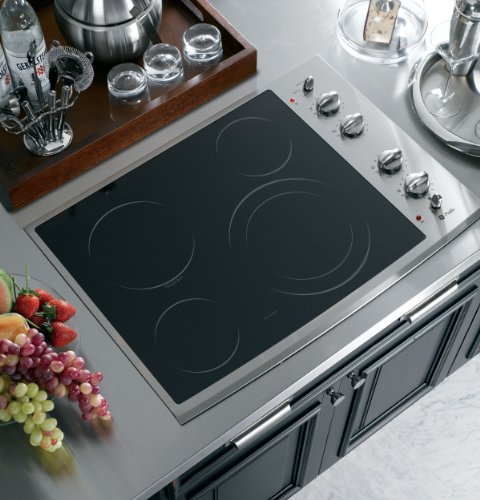 """Ge Pp912Smss Profile 30"""" Stainless Steel Electric Smoothtop Cooktop"""