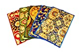 Ritika Carpets Ritika Carpet Velvet Medium Muliti-Color Door Mat -5 Set