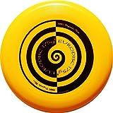 Eurodisc 175g Ultimate Frisbee Flying Disc 98% ORGANIC MATERIAL - SWIRL YELLOW