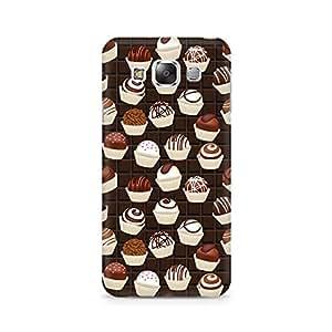 Mobicture Dark Cupcakes Premium Printed Case For Samsung E7