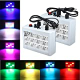 KING DO WAY  LED12個 カラフル 高効率、低発熱 安全 ステージライト  舞台照明 スポットライト カラオケライト LED:12個