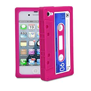 Fosmon Silicone Cassette Case for iPhone 4 / 4S (AT&T & Verizon) - (Pink)