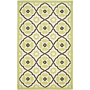 Roslyn Ivory / Green Contemporary Rug