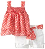 Little Lass Baby-Girls Newborn 2 Piece Short Set With Belt