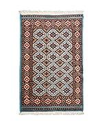 Navaei & Co. Alfombra Kashmir Azul/Multicolor 121 x 77 cm