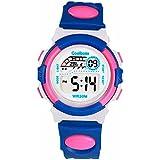 Kids Boys Girls Multifunction Waterproof Sport Watches Students Long Lasting Battery Digital Watch Blue