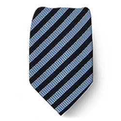 W-10129 - Black - Gray - Mens Silk Fashion Neck Tie