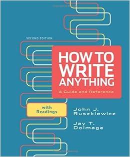 How to write anything w readings ruszkiewicz john