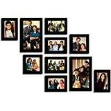 ANJALIS BLACK PHOTO FRAME COLLECTION SET OF 10 FRAME INDIVIDUAL PHOTO FRAME WITH PHOTO FREE