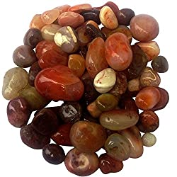 ITOS365 Pebbles Glossy Home Decorative Vase Fillers Onyx Stone, 1 KG