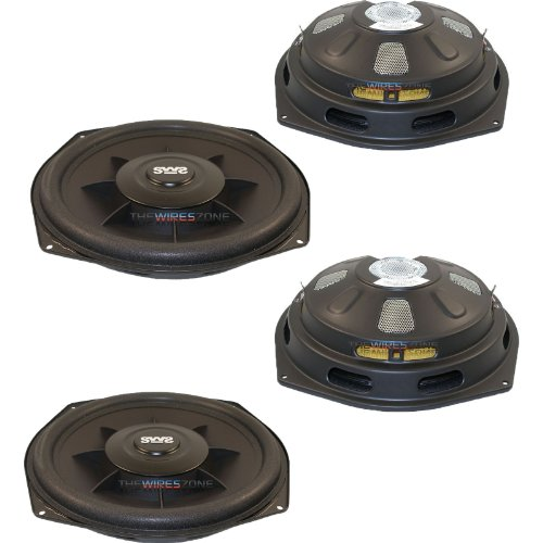 "Earthquake Sound Sws-8Xi Shallow Woofer System Series 600 Watt 8"" Single 2 Ohm Car Subwoofer (Pair)"