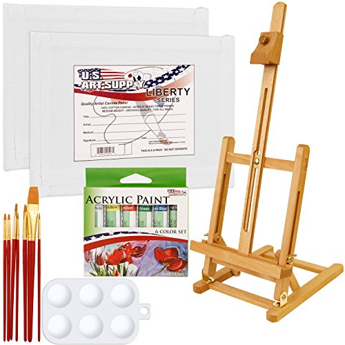 US Art Supply 14-Piece Acrylic Painting Set with