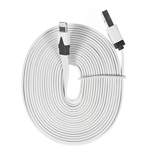 Charge N Go 10 Foot Flat Charging Cable Cord 8-Pin Lightening For Iphone 5 front-953966