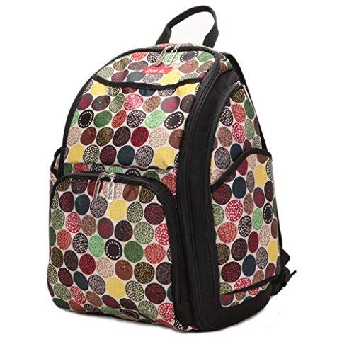 Black Backpack Diaper Bag front-1075418