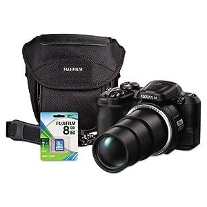 Fuji S8600Bundle Digital Camera Bundle, 36x Optical Zoom, 16MP with Included Lens kit