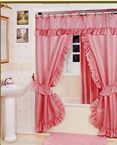 Shower Curtain Liner Target Priscilla Swag Shower Curtains
