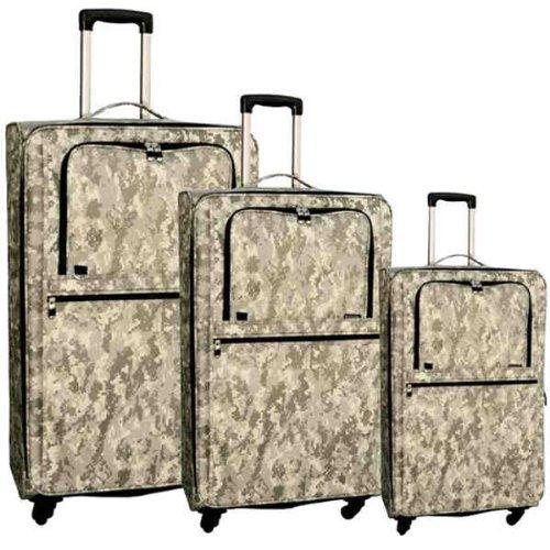 Digital Camo ACU L3401ACU 3 Piece Upright Camouflage Luggage Set Travel 3 Bags