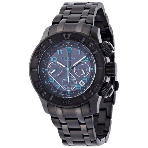 [フルボデザイン]Furbo design 腕時計 FS301 キーホルダー付きセットBOX FS301BBKBL ソーラークロノ メンズ FS301BLSET メンズ