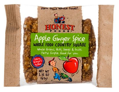 Earnest Eats, Apple Ginger, Baked Whole Food Bar 1.9-Ounce Packages (Pack Of 12)