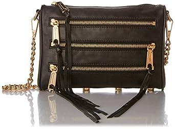 Rebecca Minkoff Mini 5-Zip Convertible Cross-Body Bag, Black,One Size