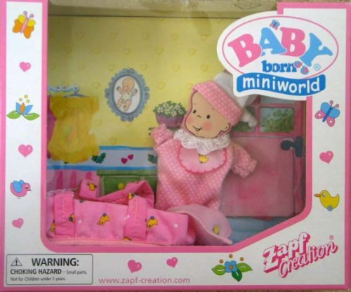 Baby Born Miniworld Sleep Suit, Carrier & Accessories front-928189