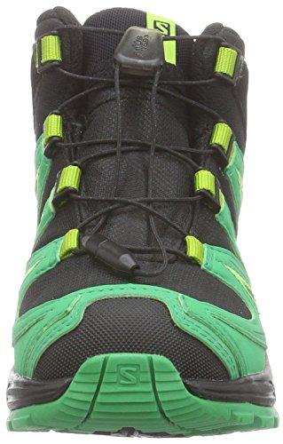 Salomon-XA-PRO-3D-Mid-K-Unisex-Kinder-Trekking-Wanderstiefel-Grn-BlackReal-GreenGranny-Green-29-EU-105-Kinder-UK