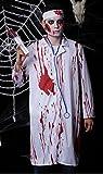 【四葉堂オリジナル】ハロウィン 肝試し コスチューム 返り血の白衣 / 聴診器セット コスプレ (男性/白衣セット)