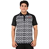 Li-Ning Black Polo T-shirts (MRN-1133)